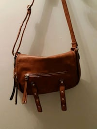 brown leather 2-way handbag Edmonton, T5J 0G5