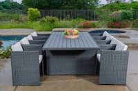 9x Wicker Rectangular Dining Set with Beige Cushions- Brand New! Factory direct! $499 instead of $1500! Outdoor Patio Furniture Ontario, 91761