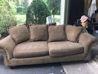 brown suede couch with throw pillows Salisbury, 21804