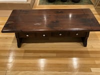 Solid cherry coffee table with drawers Washington