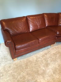 Leather sectional couch   Allentown, 18104