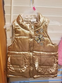 gold full zip vest