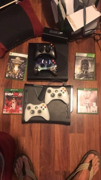 Xbox 360 console with controllers and game cases Holbrook, 11741