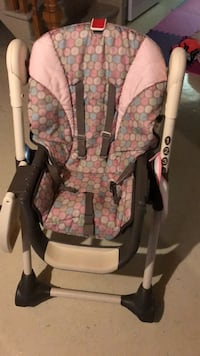 baby's gray and pink floral swing chair Toronto, M9L 1C6