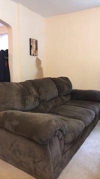 Brown suede 3-seat sofa Arlington, 22209