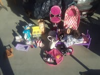 assorted color doll's accessories