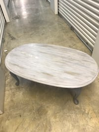 round gray wooden coffee table Monroe, 71201
