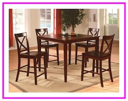 5 Piece Counter Height Dining Set in Box
