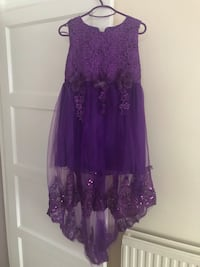 purple floral lace scoop neck sleeveless dress Romford, RM3