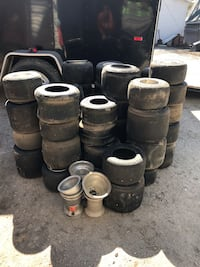 Quarter midget racing tires and rims for pavement and dirt Oreana, 62554