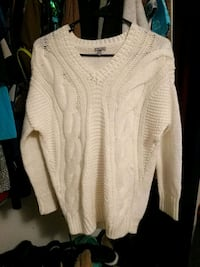 Knitted white sweater Springfield, 97478