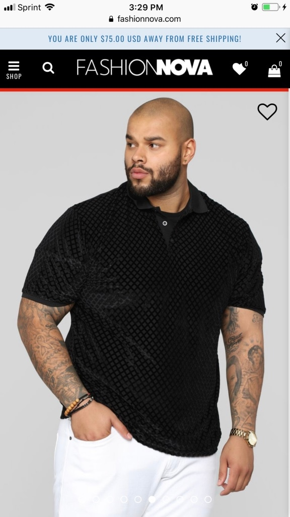 Black \u201cCarson\u201d shirt. Fashion Nova Men\u2019s