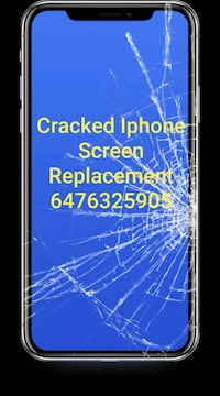 Cracked iPhone screen repair / Replacement Brampton