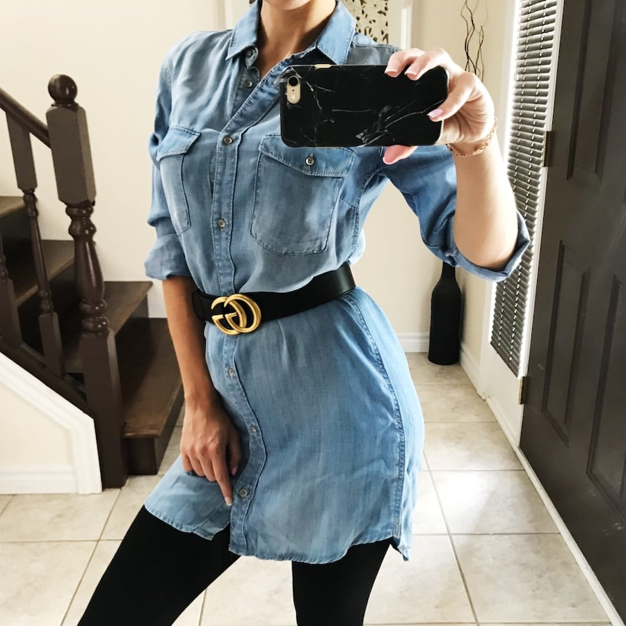 Denim shirt & dress size XS - S