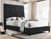 New in box black queen size bed frame only College Park