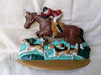 Cast Iron Horse & Hunting Dogs Vntg Door Stop Midwest Importers Hand p Alpharetta, 30005