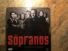 RARE--HBO-SOPRANOS TRIVIA GAME (NEW) TIN BOX