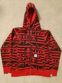 red and black pullover hoodie Brampton, L6S 6H8