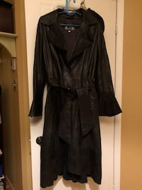 Long black leather jacket from brown's size medium paid $1000 a few years ago. In excellent condition  799 km
