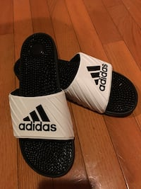 Pair of black-and-white adidas slide sandals Alexandria, 22307