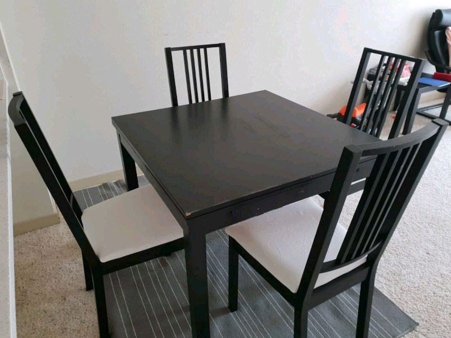 Begagnad Ikea Extendable Dining Table Chairs Moving Out Till Rh Se Letgo Com Room