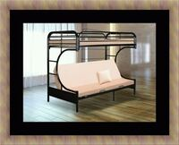 Twin futon bunk bed frame with mattress Adelphi