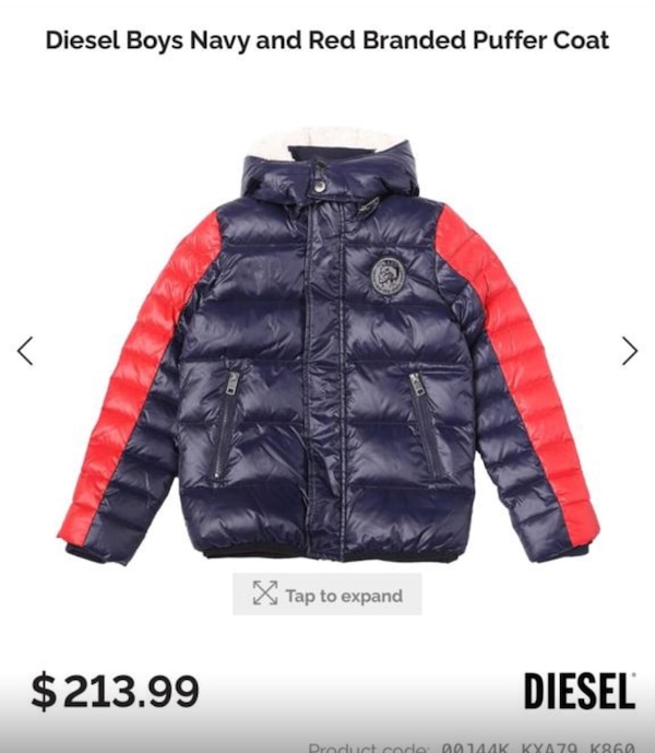 d74d0155d Boys Diesel Puffer Coat (Brand New)