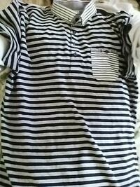 black and white stripe polo shirt Edmonton, T5J