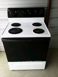 white and black 4-burner electric coil range oven Springfield, 65802