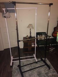 two white and black steel clothes rack Austin, 78745