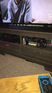 brown wooden TV stand with shelf Grande Prairie, T8V 1M1