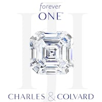 Charles and Colvard Forever One DEF 9.0mm Asscher Moissanite With Certificate 31 km