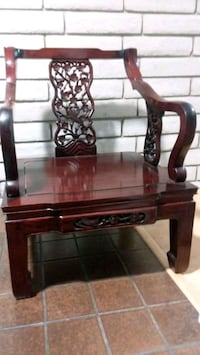 Rosewood asian style chair