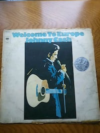 Plak Welcome To Europe Johnny Cash 1975 LP