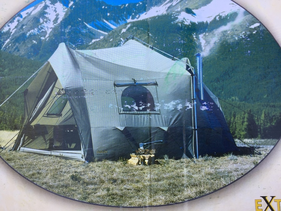 This cabella extreme weather wall tent has complete kitchen sink stove chimney beautiful vitu0027s & Used This cabella extreme weather wall tent has complete kitchen ...