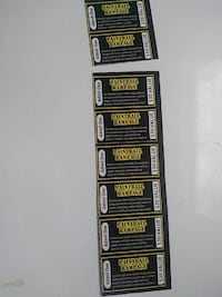 Paint ball passes have 8 will sell individually or