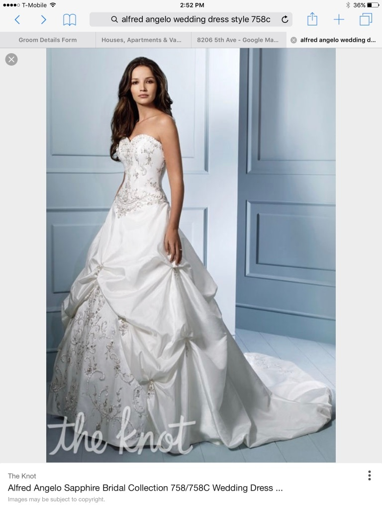 Used Alfred Angelo style 758 diamond white