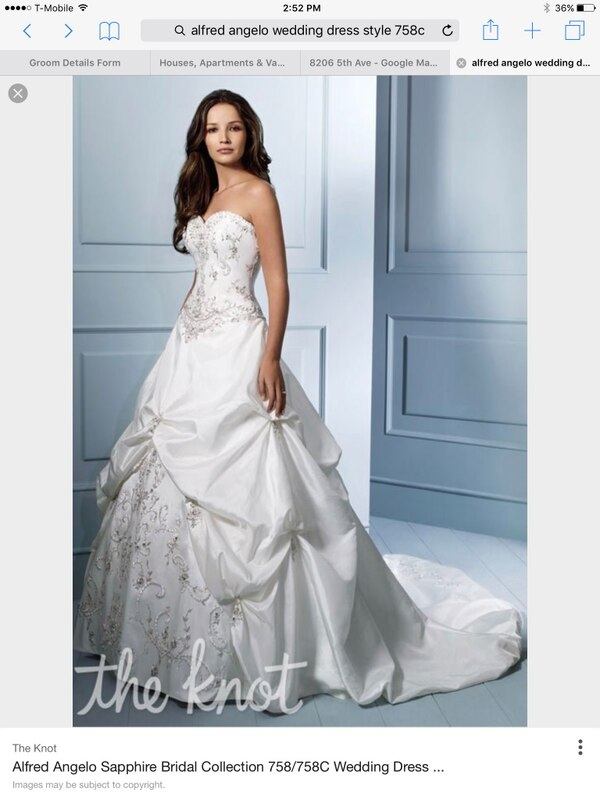 Used Alfred Angelo style 758 diamond white wedding dress for sale in ...