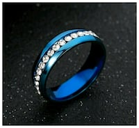 Size 5.5, 8 or 11 Stainless Steel Zirconia Ring  Morristown, 37813