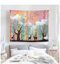 Brand New Psychedelic Elk Forest Tapestry Pinterest