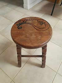 Vintage Stool w/ artwork