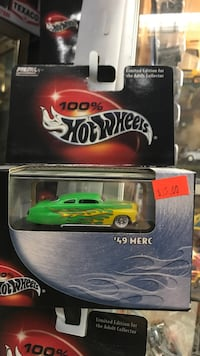 black and red Hot Wheels die-cast model Whittier, 90602