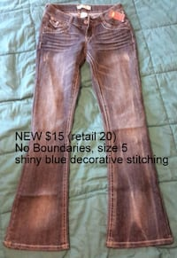 NEW No Boundaries Jeans * Jr Size 5 Martinsburg, WV, USA