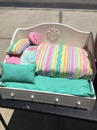 """American Girl Bed trundle 18"""" Doll Lithia, 33547"""