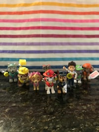 Paw Patrol collectible figures. Made in Spain. $10 for the entire collection. Smoke free and pet free home. Los Angeles, 90045