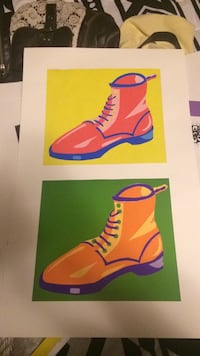 red and orange 2 boots paper cuts Morrilton, 72110