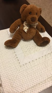 Baby quilt and bear