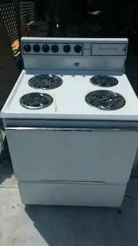 white and black electric coil range oven Clearwater, 33765