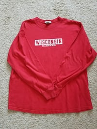 Red Wisconsin Badgers T-Shirt  Richlands, 28574