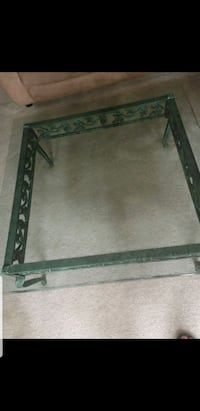 large metal frame glass top coffee tab Toronto, M6B 4L2